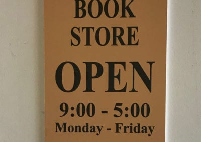 Bookstore Sign Store Operation Hours